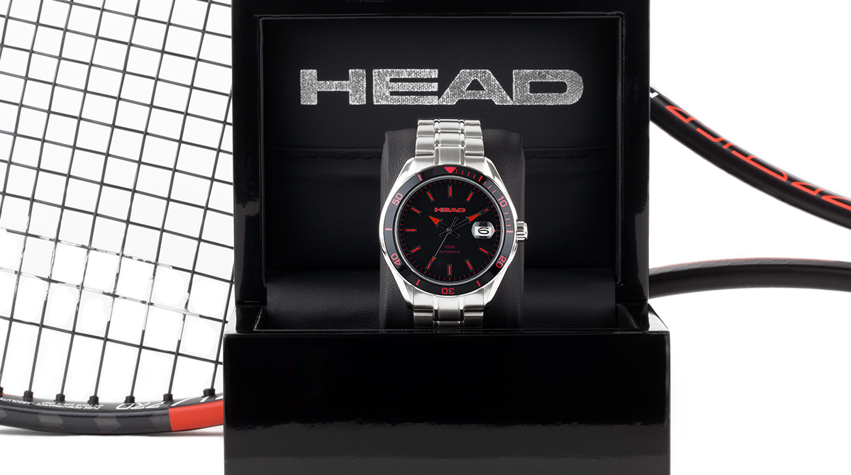 Limited edition HEAD watch and a tennis racket